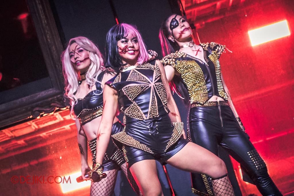 Halloween Horror Nights 7 - Slice of Life Tour live concert show / Sliced Trio