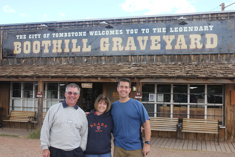 Tombstone - Famous for Wyatt Earp and Doc Holliday.  Thanks for Uncle Fred and Aunt Barb for the awesome tour!