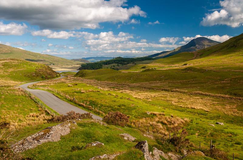 Snowdonia valleys at Rhyd Ddu