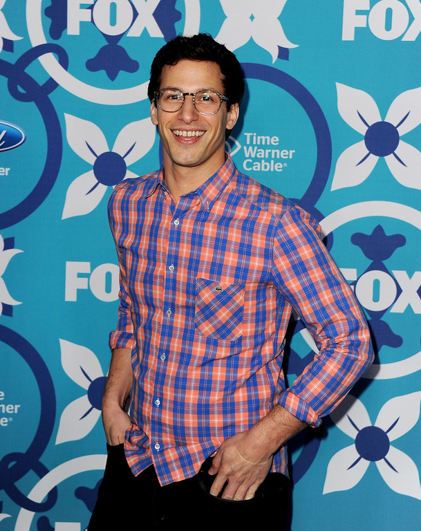 . Actor Andy Samberg arrives at the Fox Fall Eco-Casino Party at The Bungalow on September 9, 2013 in Santa Monica, California.  (Photo by Kevin Winter/Getty Images)