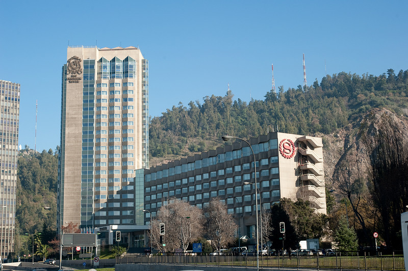 Our hotel (Sheraton) in Santiago.