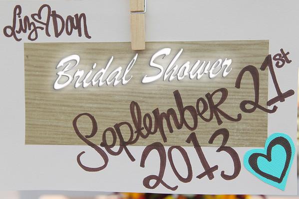 Liz's Bridal shower - July 2013
