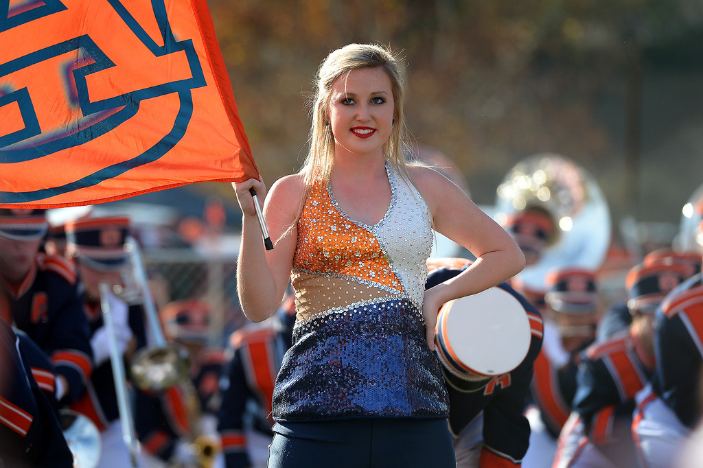. The Auburn band and drill team performs at an alumni party before the BCS game at the Rose Bowl, Monday, January 6, 2014. (Photo by Michael Owen Baker/L.A. Daily News)
