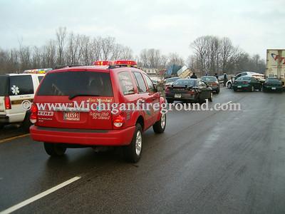 1/12/05 - Williamston multiple vehicle crash & MCI, I-96 mile marker 116