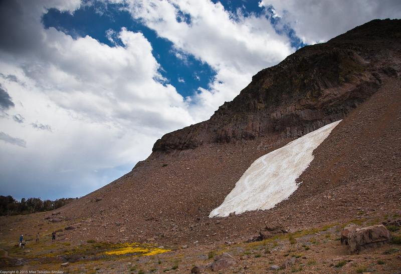 A Snow Patch near Round Top Peak