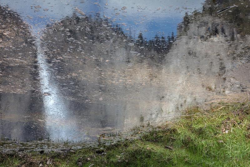 Yosemite Falls reflected