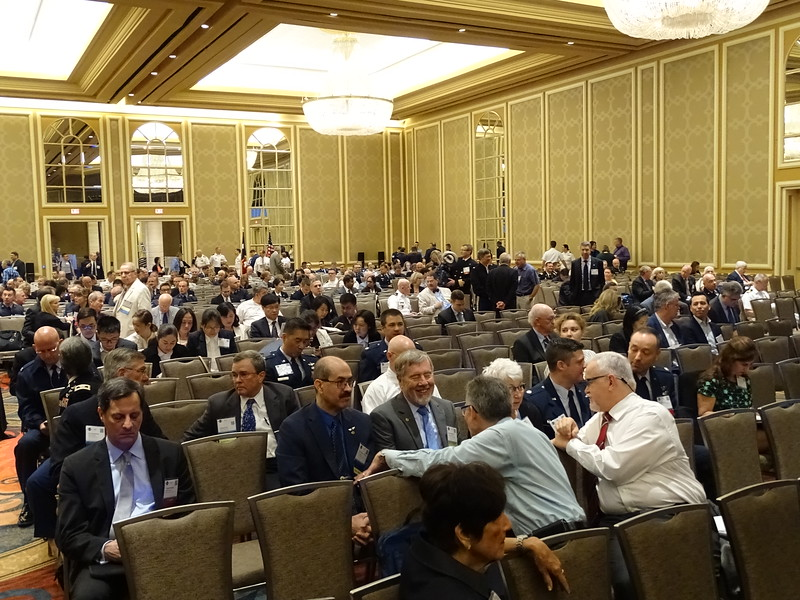 Members and attendees awaiting the start of Opening Ceremonies.