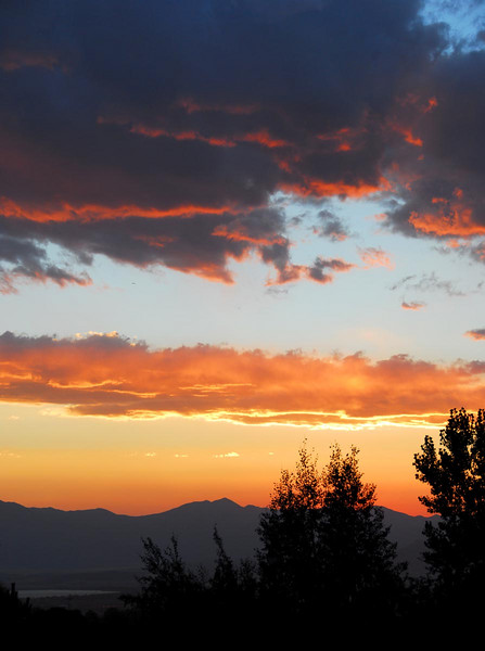 8/17/07 - Just a nice sunset from right in front of our home. You can see just a small part of Utah Lake in the bottom left of the image.