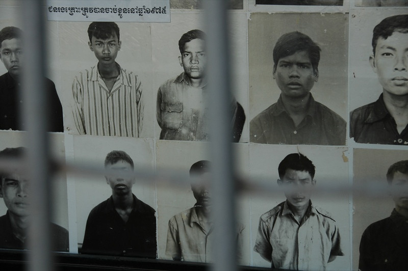 Photos at the Genocide Museum - Phnom Penh, Cambodia