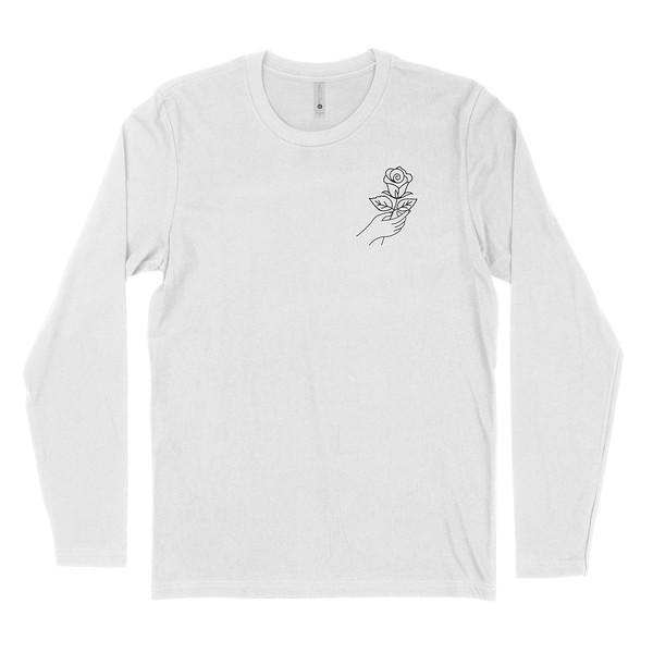 Organ Mountain Outfitters - Outdoor Apparel - Mens T-Shirt - Desert Rose Long Sleeve Tee - White Front.jpg