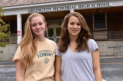 Congratulations AMHS Valedictorian Shaana Staab and Salutatorian Therese Belnap photos by Gary Baker