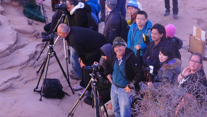 Photo line @ Mesa Arch