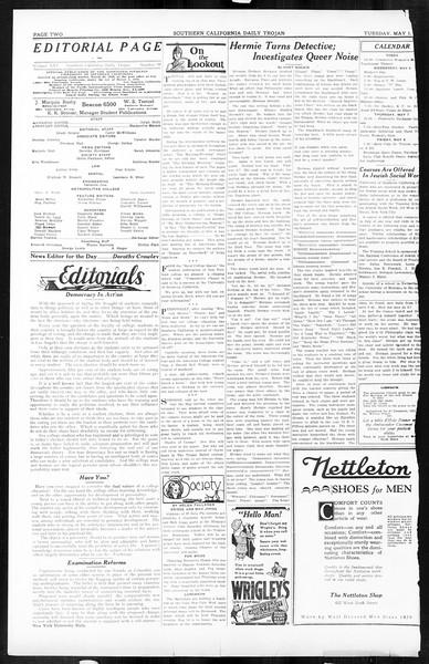 Daily Trojan, Vol. 16, No. 98, May 05, 1925