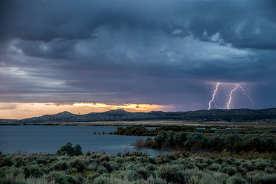 Lightning  in Flaming Gorge