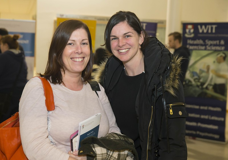 23/02/2016. Free To Use Image. Pictured at WIT (Waterford Institute Of Technology) Adult Learner Information Evening are Fiona Slade Tramore and Nicola Kelleher Dunhill, Co Waterford. Picture: Patrick Browne
