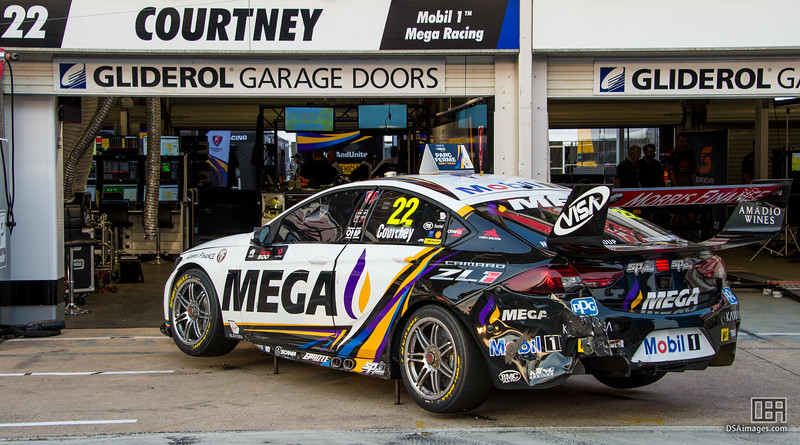 Damage to James Courtney's car