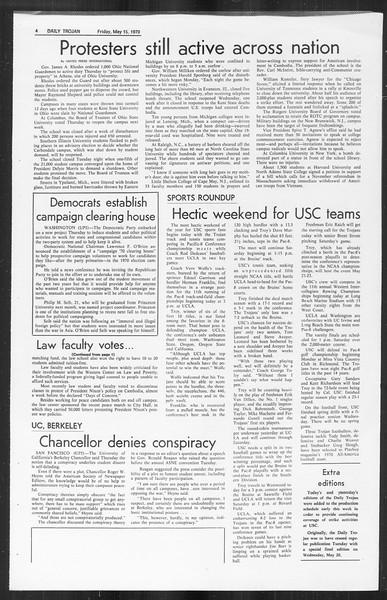 Daily Trojan, Vol. 61, No. 126, May 15, 1970