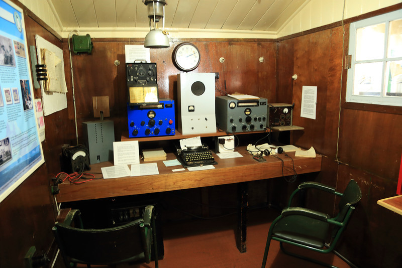 Radio room, Historic British Base A, Port Lockroy on Goudier Island.