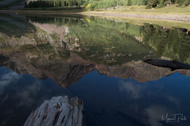Reflection of the Bells in Crater Lake
