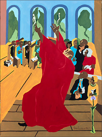 """Jacob Lawrence, """"Eight Studies for the Book of Genesis No. 7"""" (1989)"""