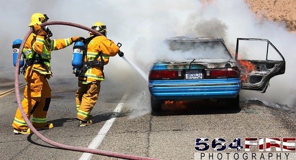 BDC - Vehicle Fire - Landers - 9-6-09