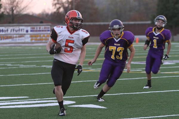 09b JV Football:  Wheelersburg at Valley 2014