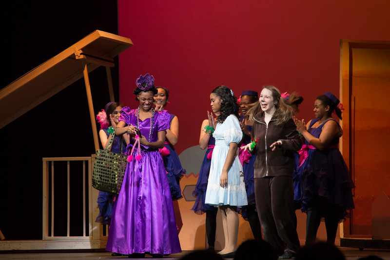 "Addaperle and the Munchkins with Dorothy & Toto -- ""The Wiz"", Montgomery Blair High School spring musical, March 26, 2017"