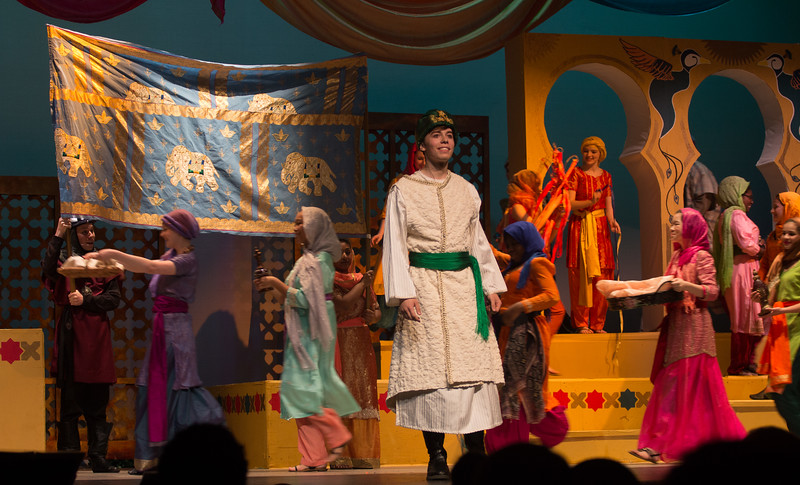 The Caliph (opening of Act II) -- Kismet, Montgomery Blair High School spring musical, April 15, 2016 performance (Silver Spring, MD)