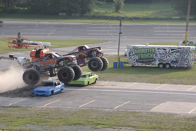 MONSTER TRUCKS AND MOTORCYCLE STUNT SHOW AT BERLIN RACEWAY 7-10-15