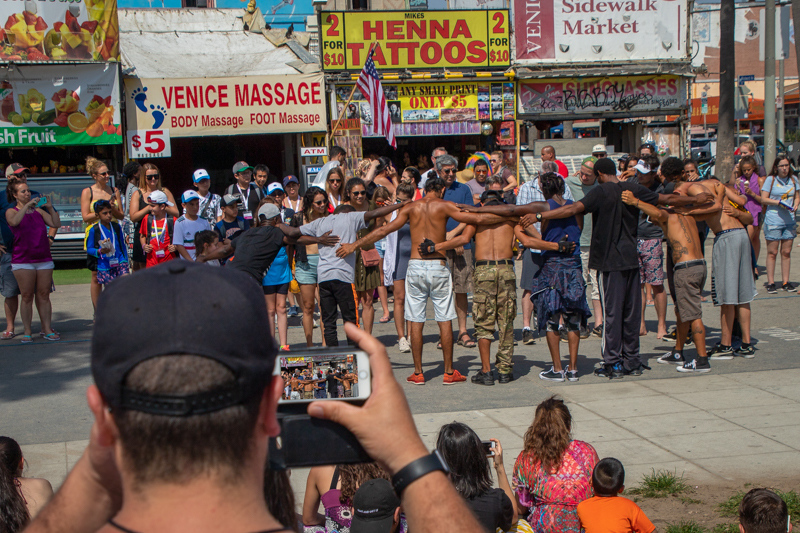 July 10 - Just another day on the boardwalk at Venice.jpg