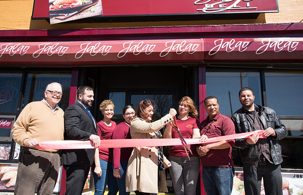 04/16/19 Wesley Bunnell | Staff Jalao Deli and Restaurant located at 647 Stanley St held a grand re-opening on Tuesday afternoon. Alderman Don Naples, New Britain Chamber Interim President Kyle Kummer, employee Glenda Brito, employee Nicole Perez, Mayor Erin Stewart, co-owner Adalgiza Perez, husband co-owner Domingo Santos and Alderman Kristian Rosado.