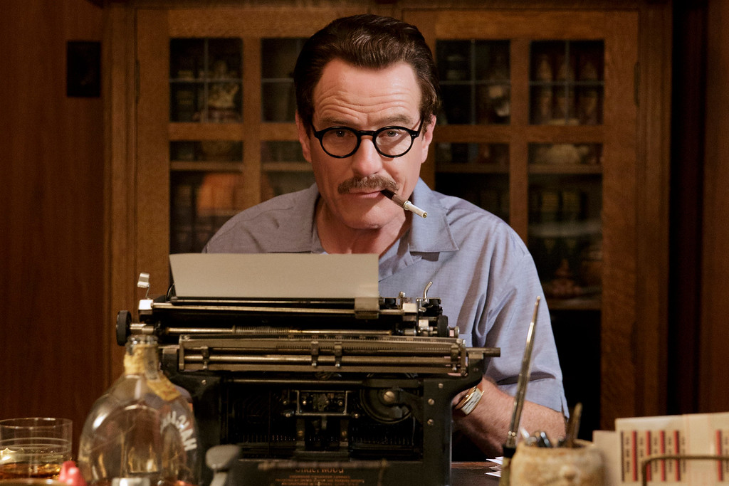 ". This photo provided by Bleecker Street shows Bryan Cranston as Dalton Trumbo in Jay Roachís ""Trumbo,\"" a Bleecker Street release. Cranston was nominated for an Oscar for best actor on Thursday, Jan. 14, 2016, for his role in the film. The 88th annual Academy Awards will take place on Sunday, Feb. 28, at the Dolby Theatre in Los Angeles. (Hilary Bronwyn Gayle/Bleecker Street via AP)"