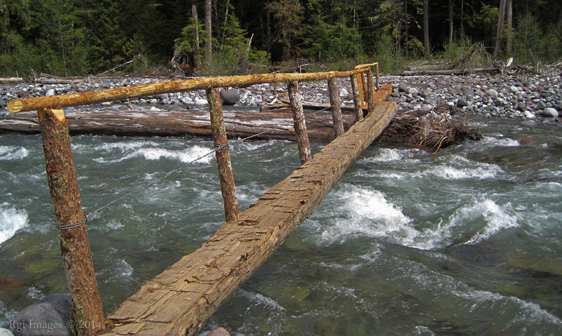 Footbridge over the Carbon River.