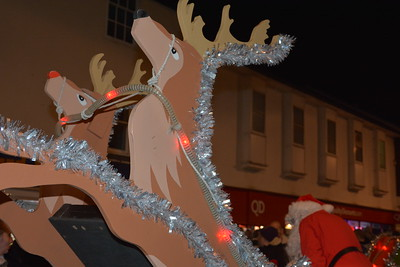 2017 Santa Sleigh Stowmarket Lights Friday 24th November