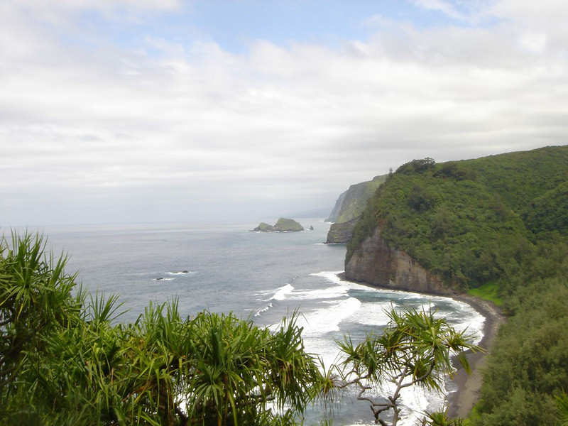 Coastal cliffs in Hawaii