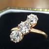 1.38ctw Antique Old European Cut Diamond 3-Stone Ring 4