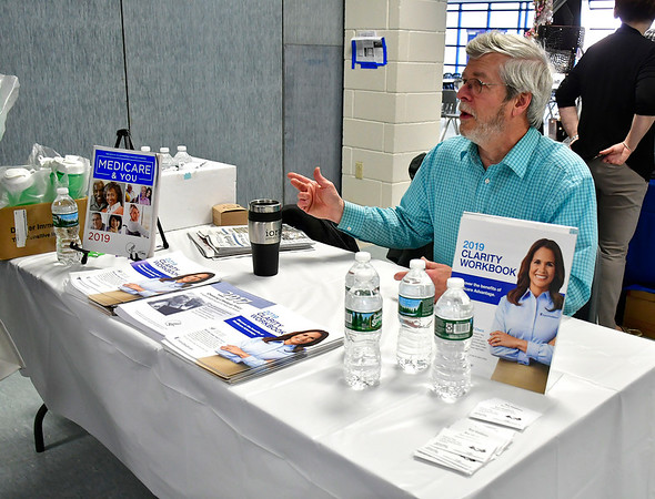 4/6/2019 Mike Orazzi | Staff Independent Insurance Broker Ron Middleton during the 5th Annual Connecticut Prime Time Senior Fair Saturday at Bristol Eastern High School.