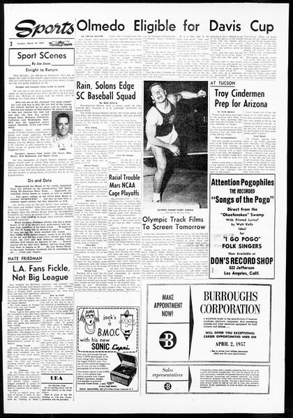 Daily Trojan, Vol. 48, No. 96, March 19, 1957
