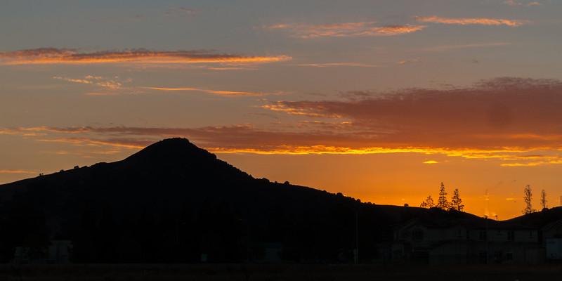 Aug 31 - Sunset over El Toro, Morgan Hill, CA