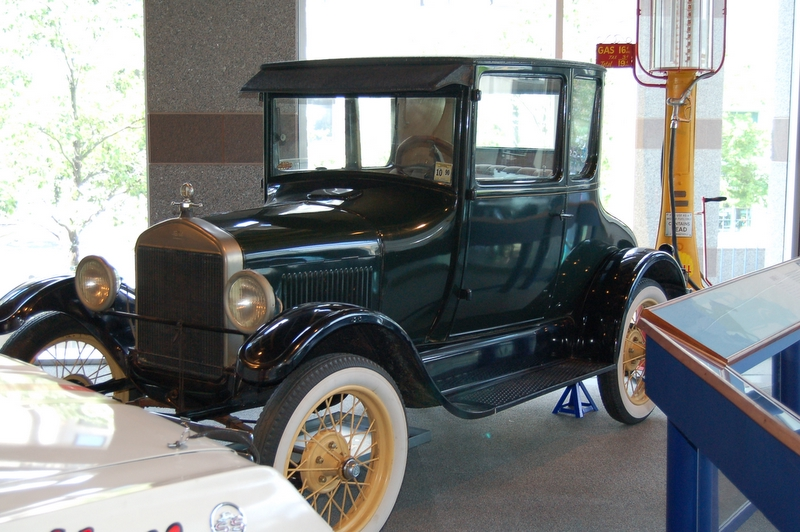 antique car in the history museum