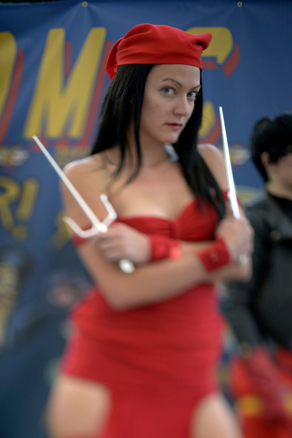 . Reese Rejalado 26-years-old pses as Electra as she attends the Denver Comic Con June 2, 2013 at the Colorado Convention Center. The Convention brought in more than 45,000 for the three day weekend. (Photo By John Leyba/The Denver Post)