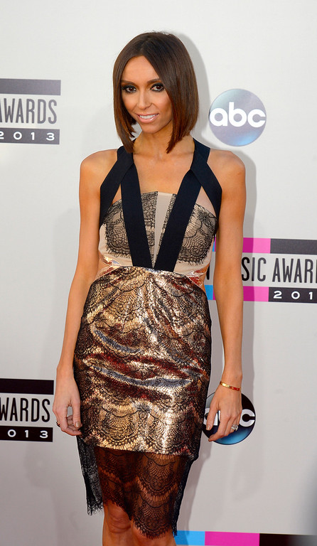 . Giuliana Rancic arrives to the American Music Awards  at the Nokia Theatre in Los Angeles, California on Sunday November 24, 2013 (Photo by Andy Holzman / Los Angeles Daily News)