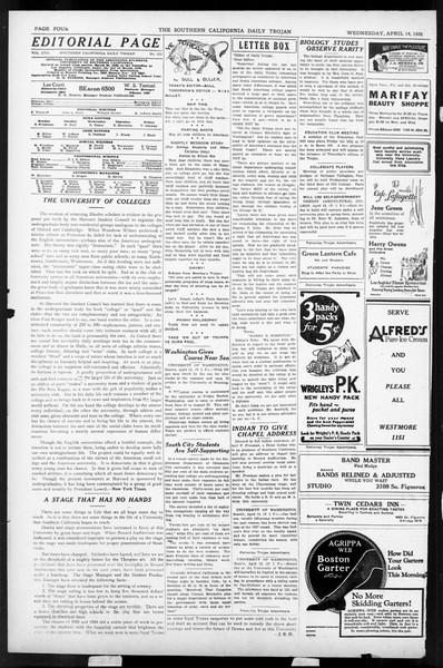 Daily Trojan, Vol. 17, No. 123, April 14, 1926