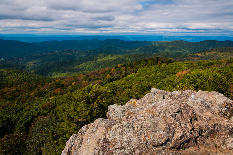 View from Bearfence Mountain, Shenandoah National Park, Virginia