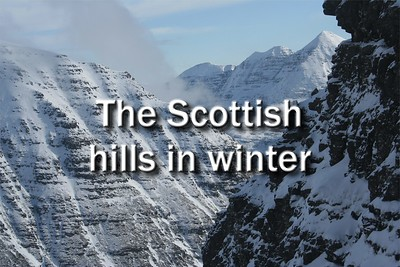 The Scottish hills in winter