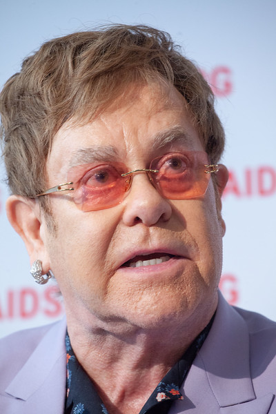 The Netherlands, Amsterdam, 24-7-2018. Pressconference Eastern Europe and Central Asia. Elton John about the work of the Elton John Aids Foundation.Photo: Rob Huibers for AIS. (Please publish always with complete attribution).