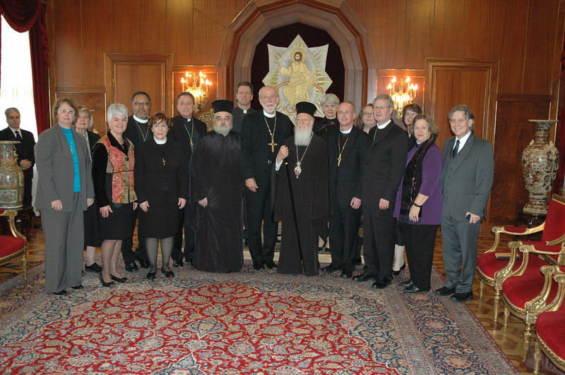 The ELCA delegation of clergy and lay leaders met the Ecumenical Patriarch Bartholomew I, center, Feb. 8 in Istanbul