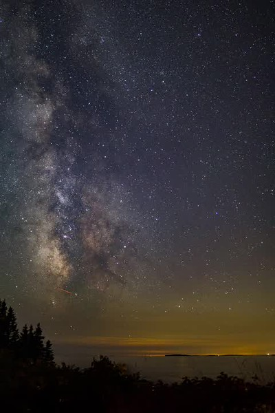 Milky Way, timelapse video from 210 photos taken over an hour