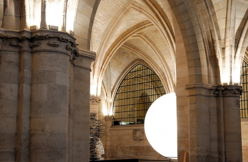 The Conciergerie. Once a royal palace and prison, now an art space.