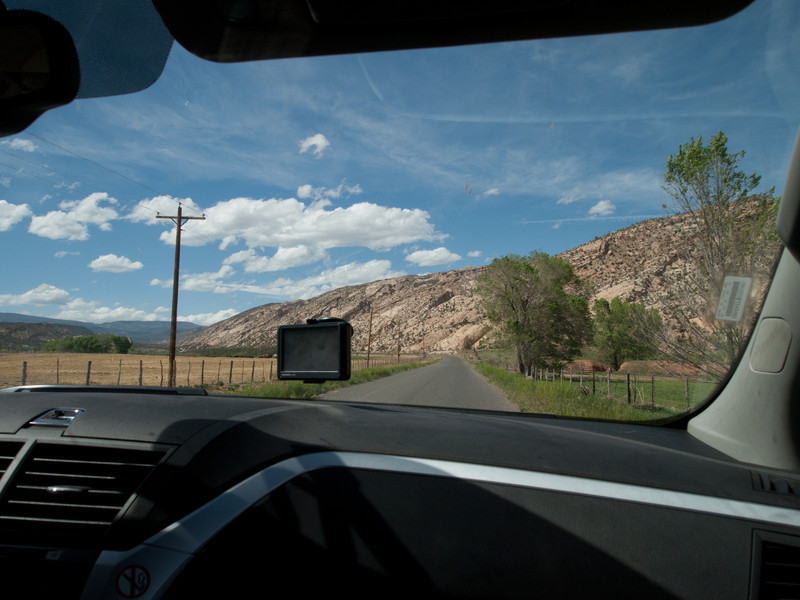 After our hike we rested a while at the cottage and drank a couple of sarsaparilla sodas at the Kiva Koffeehouse.  We then headed out to dinner, taking the older road to Boulder, UT...Hell's Backbone.  This dirt road was built in the 1930's to connect Escalante and Boulder (Highway 12 is now the main route)